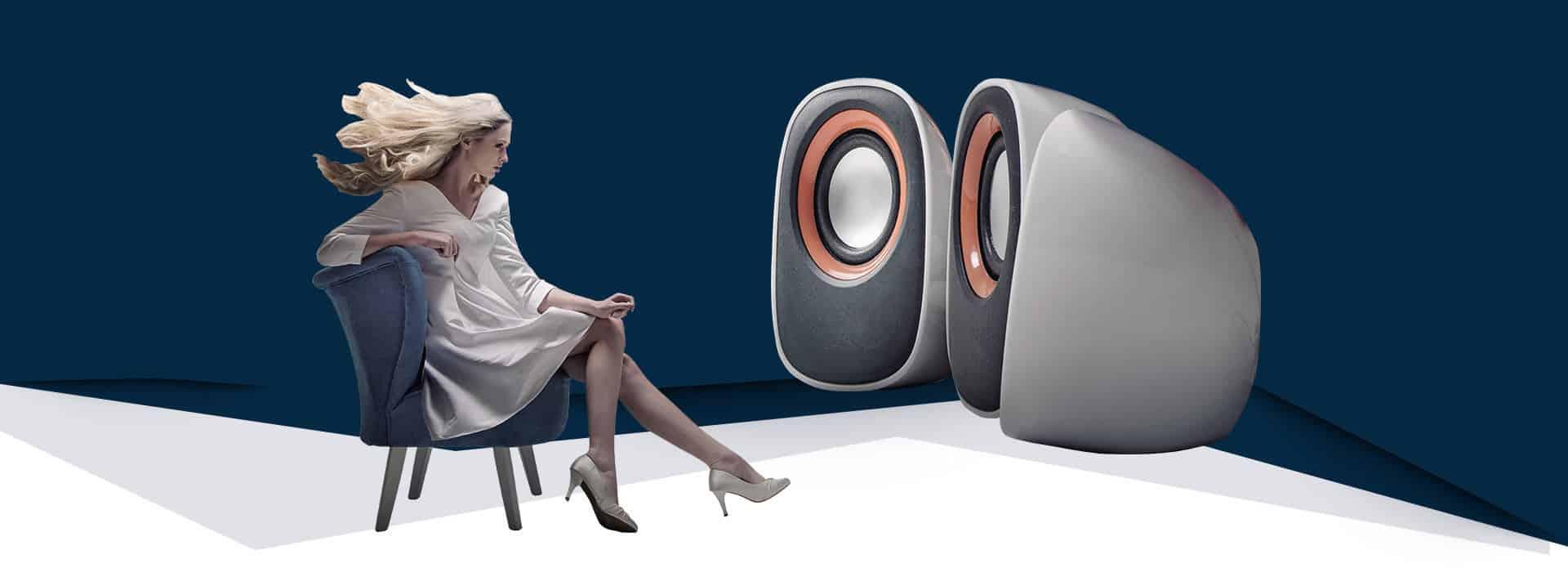 Audio Video komponenty v predajni Astrasat Trnava